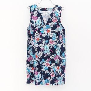 Lands End Sleeveless Dress Swim Cover up 1X & 2X